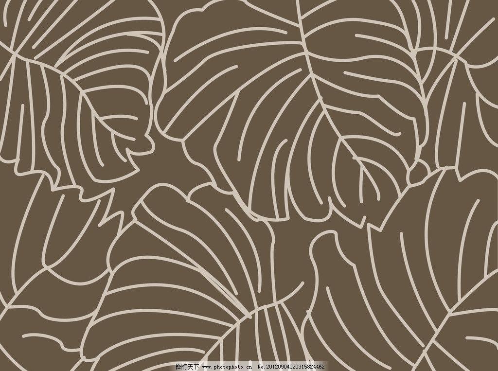 花边花纹 底纹边框 设计 500-简单的树叶花边 简单漂亮花边简笔画 黑