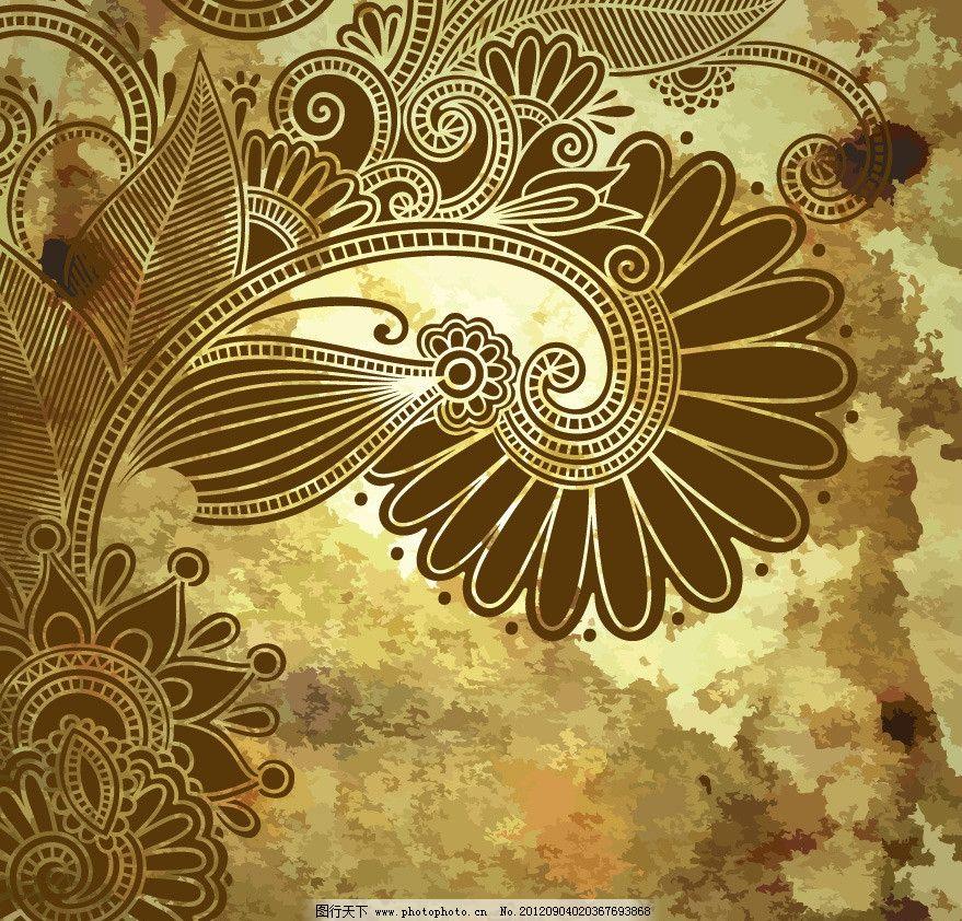 欧式古典花纹花朵图片_花边花纹_底纹边框_图行天下