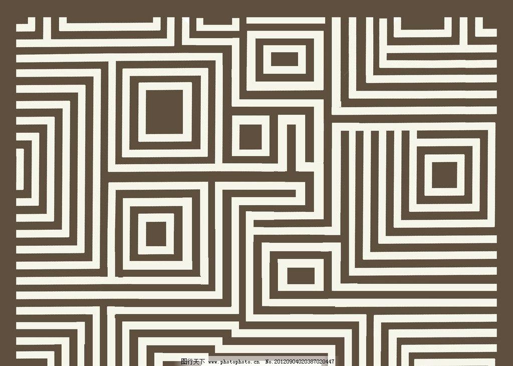 几何图形 抽象 正方型 格子 七字纹 回字形 地毯 花边花纹 底纹边框