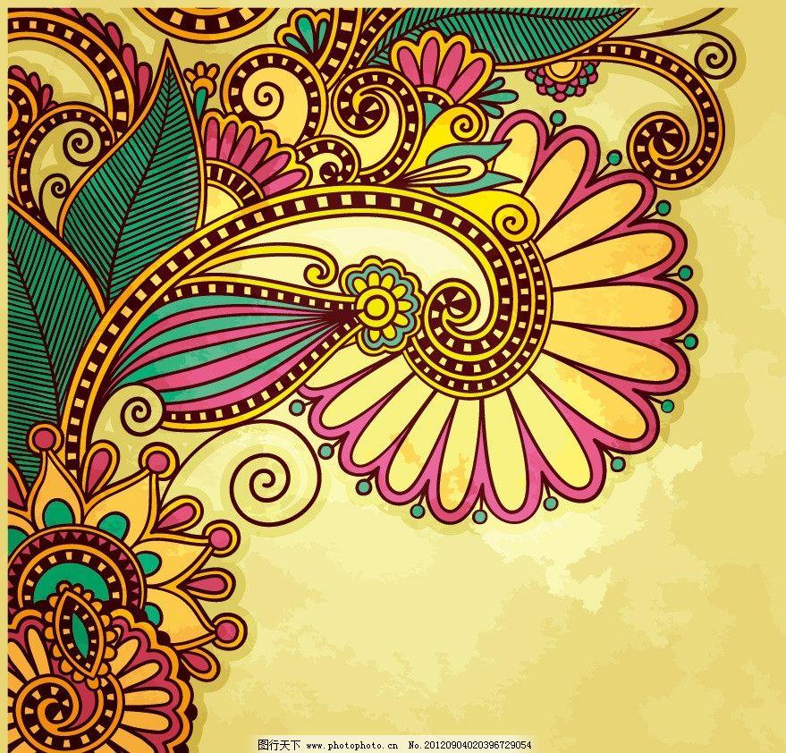 欧式古典花纹花朵图片