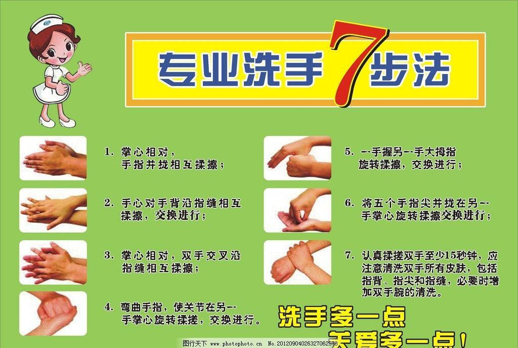 7步洗手图 七步洗手图 手势 手 冼手步骤 洗手文字 文字 板式 洗手液