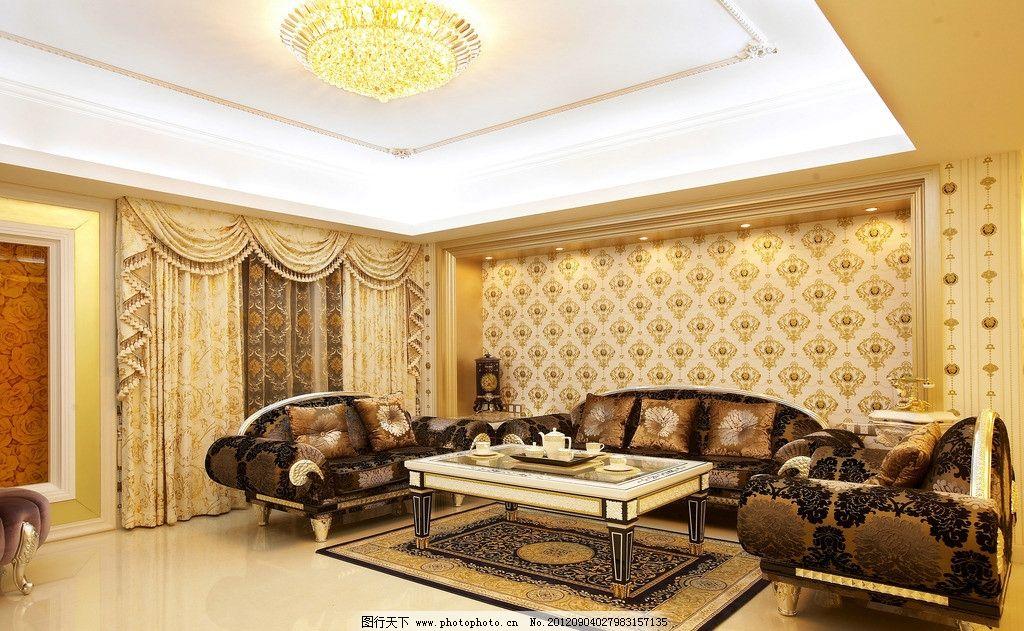 奢华欧式沙发背景