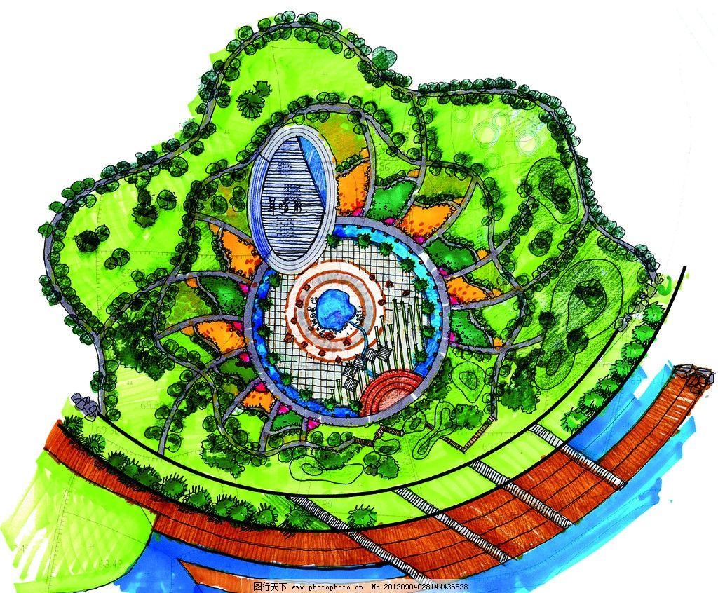 手绘平面图 景观 手绘 手绘景观平面图 景观设计 环境设计 设计 254