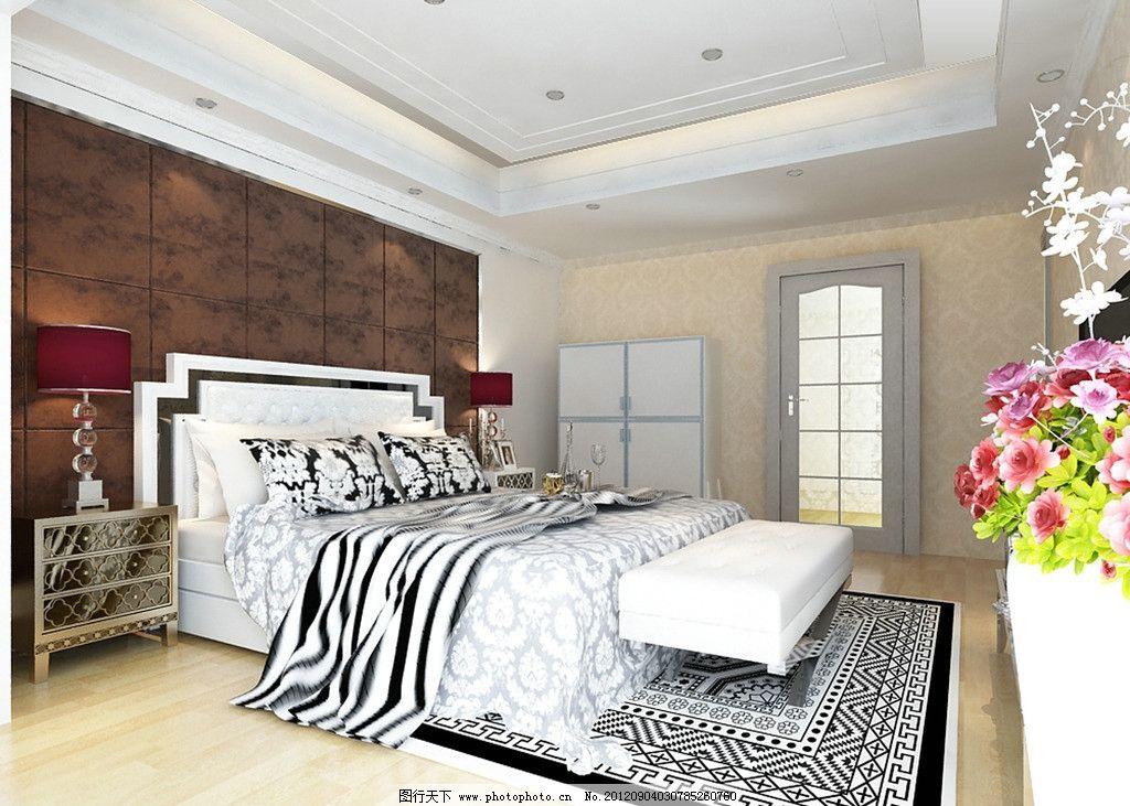 简欧卧室 软包 造型吊顶 欧式床 源文件 国内广告设计 广告设计模板图片