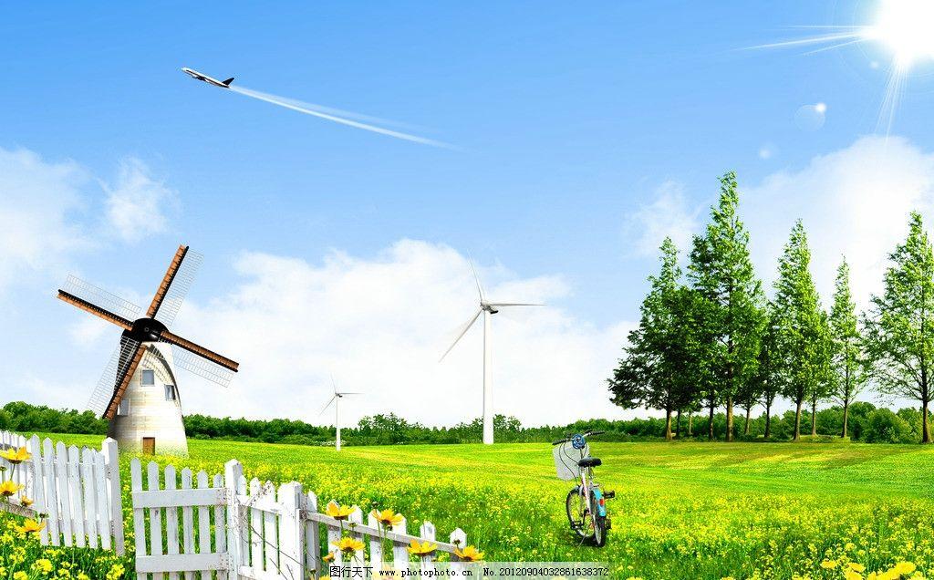春天 空旷 阳光      海报设计 广告设计 psd分层素材 源文件 风景psd