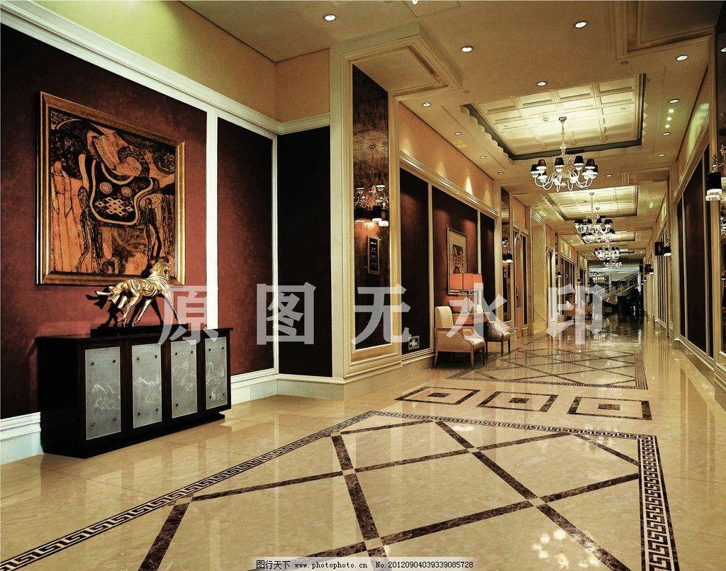 酒店大堂 别墅 豪华 欧式 室内装修 大厅 石材 石砖 高档 室内摄影