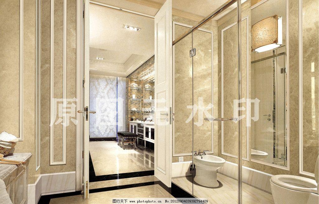 卫生间 酒店 大堂 别墅 豪华 欧式 室内装修 洗手间 大厅 石材