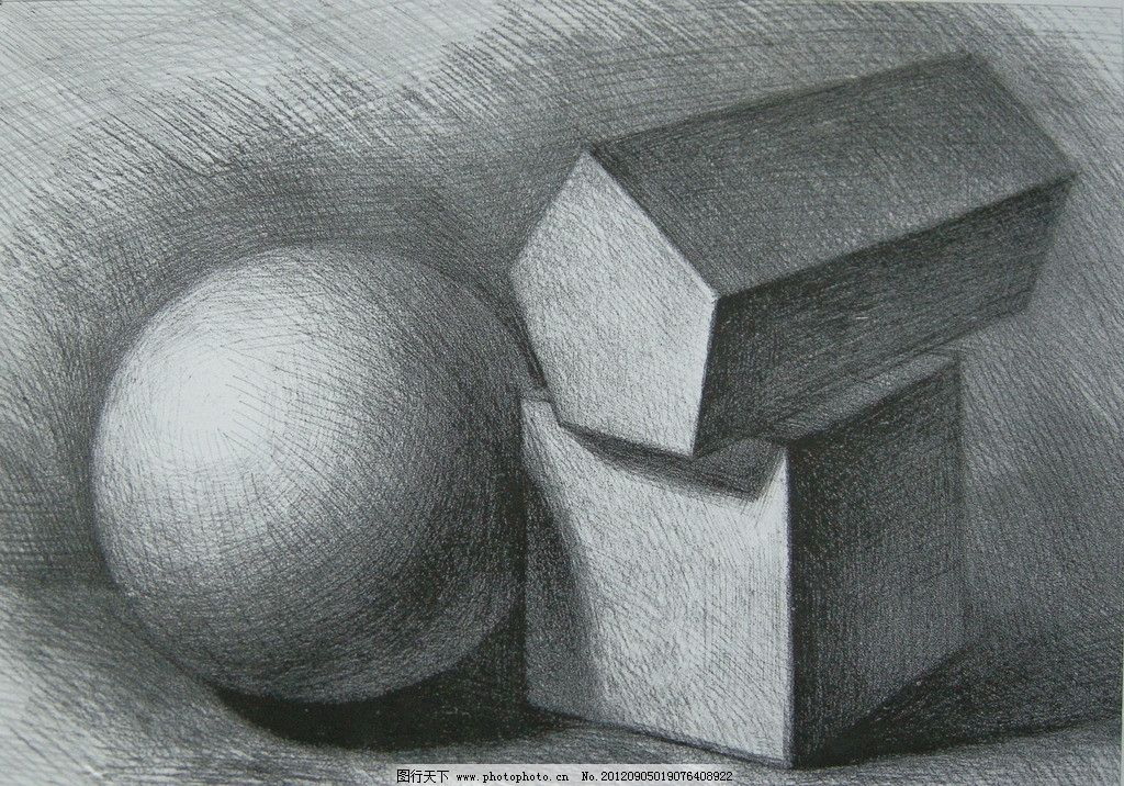 素描几何体 几何体 素描 石膏 绘画书法 文化艺术 设计 300dpi jpg
