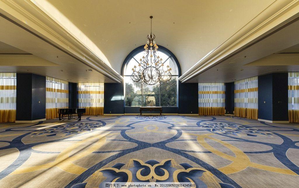 过道大厅 大堂 欧式 酒店 地毯 仿古砖 拼花 室内摄影 建筑园林