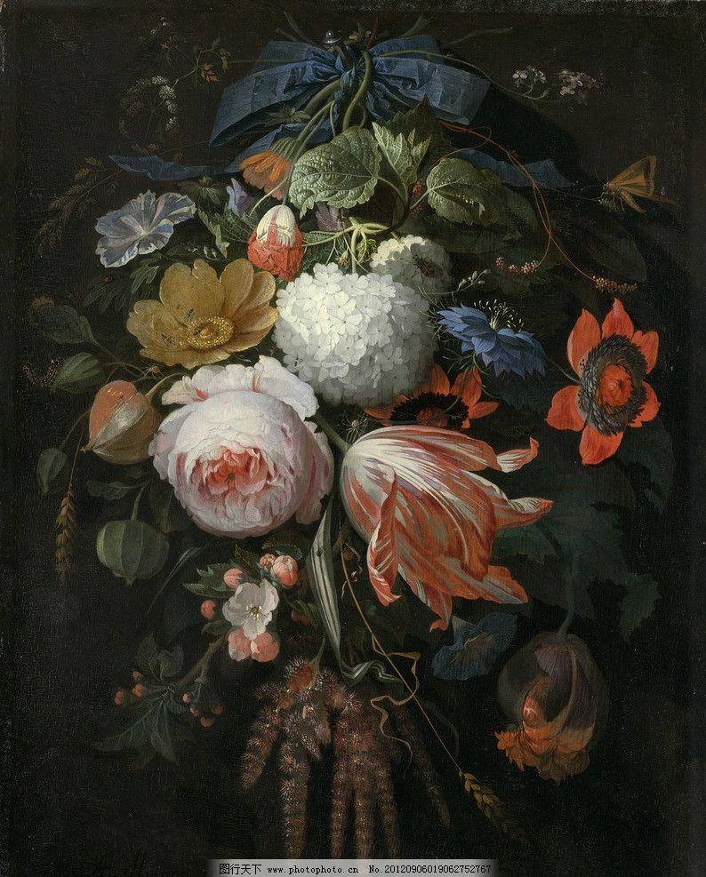 油画静物 花卉图片