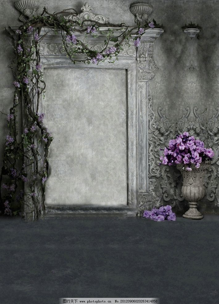 暗色背景 花 破旧 欧式 墙面 花纹 抠图背景 摄影背景 设计 200dpi