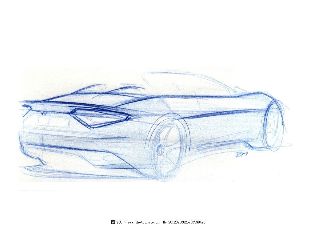 汽车设计图 汽车手绘图 手绘图 设计图 跑车 轿车 敞篷跑车 线描图
