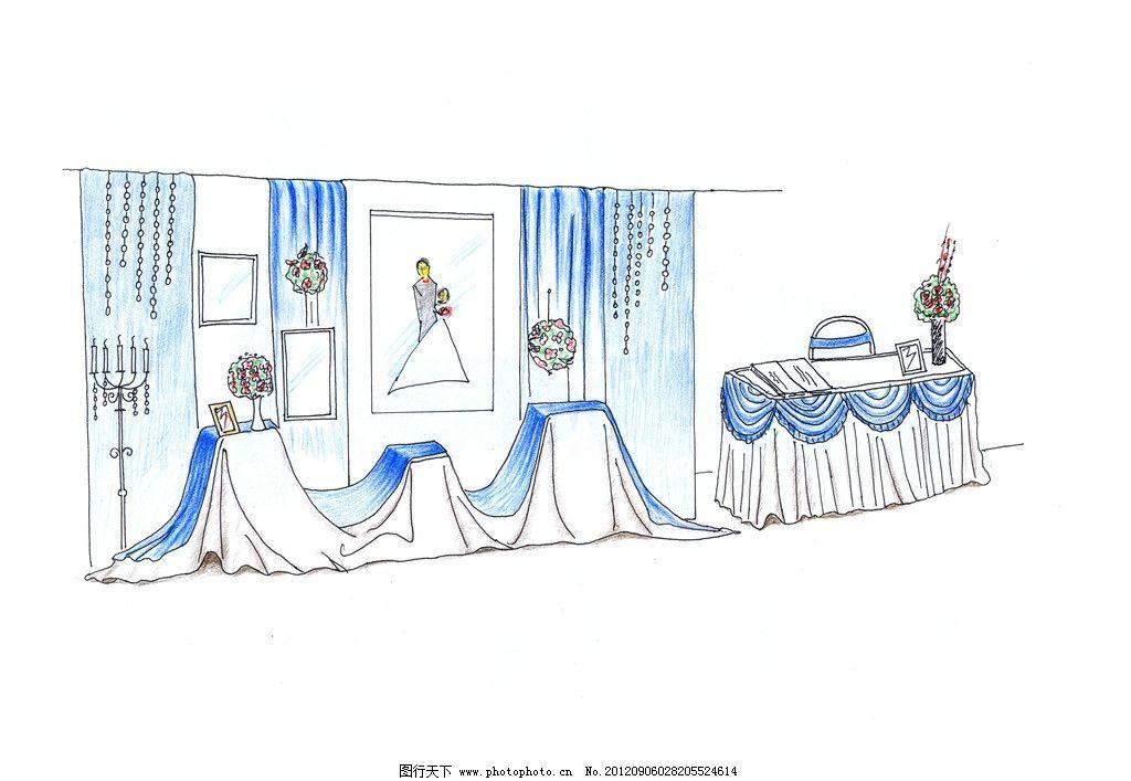 手绘婚礼主题图片