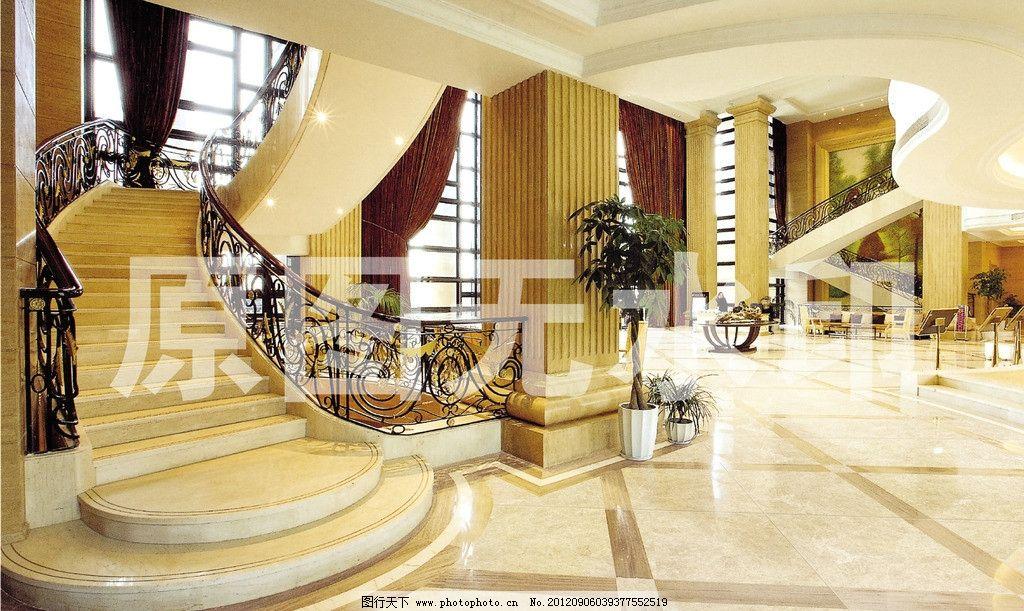 酒店大堂 酒店 大堂 别墅 豪华 欧式 室内装修 室内设计 大厅 石材 石