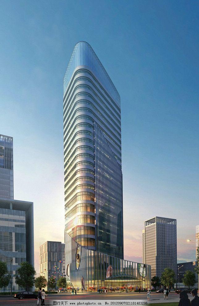 建筑设计效果图 建筑设计        建筑 办公建筑 高层 高层建筑物 3d