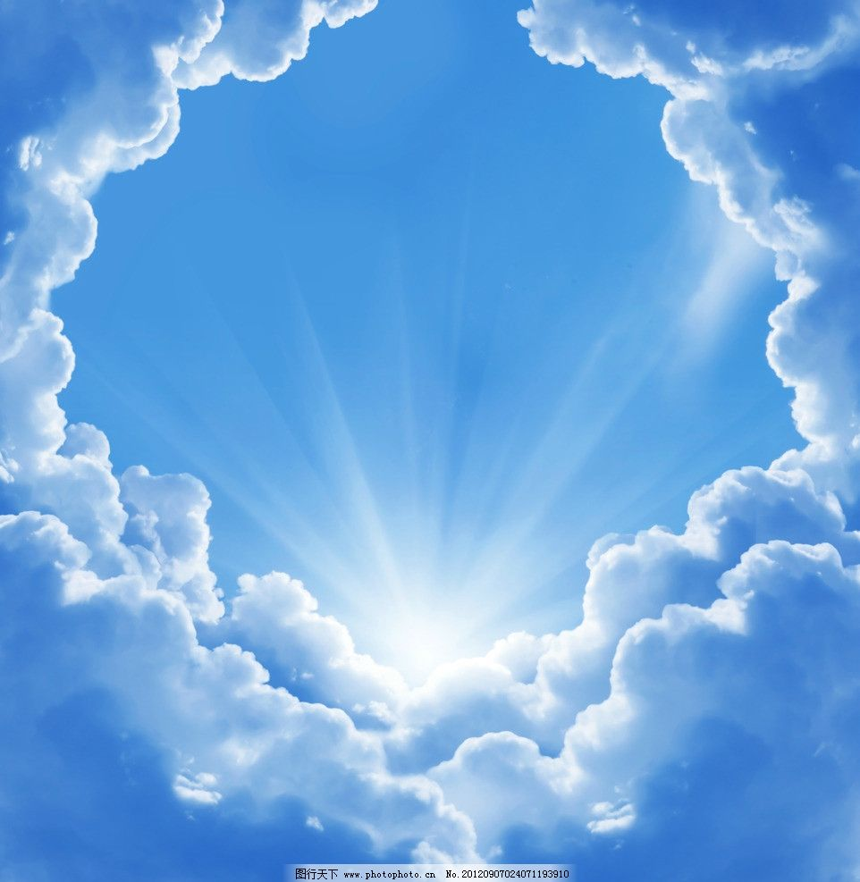 蓝天 月亮 星星 云彩 星空 云朵 白云 阳光 光线 唯美 梦幻 浪漫 背景