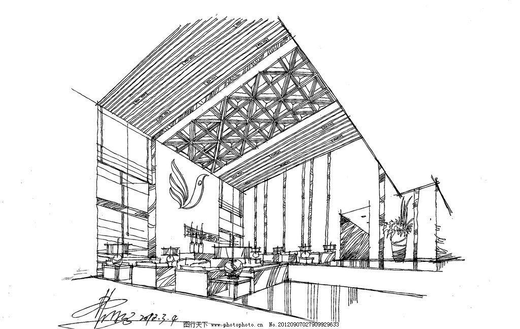 大堂方案 手绘草图 公司大堂 室内设计 环境设计 设计 72dpi jpg