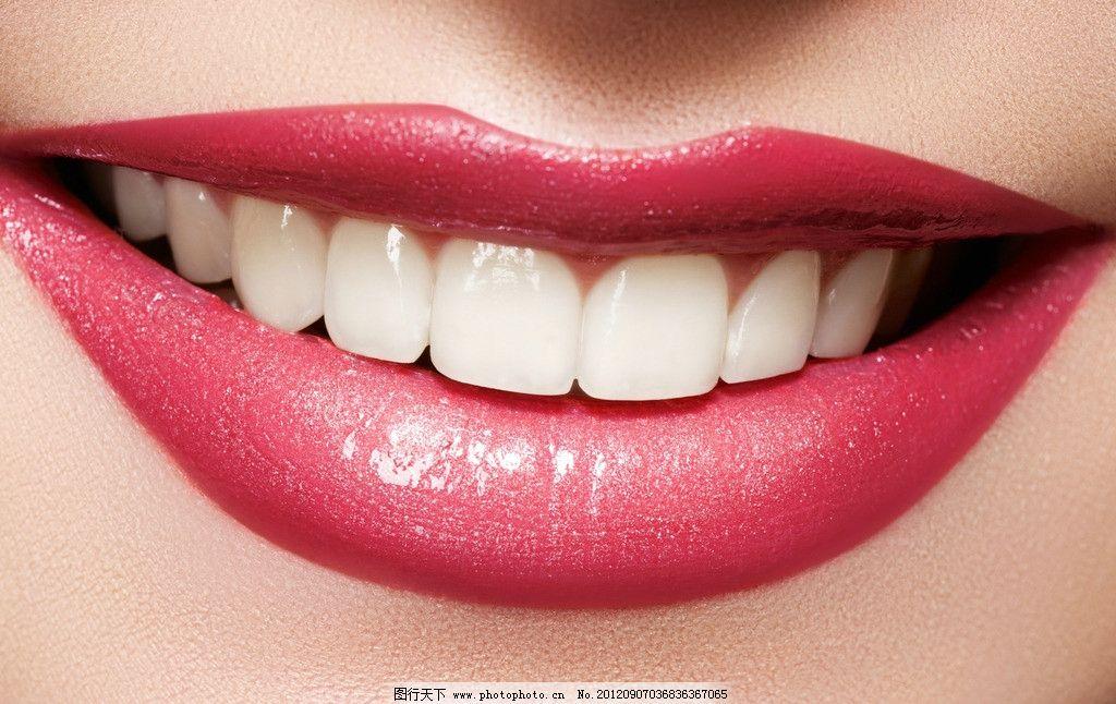 红唇 笑容 微笑 牙齿 洁白 大笑 嘴唇红唇 嘴型 嘴唇 口红 美容 化妆