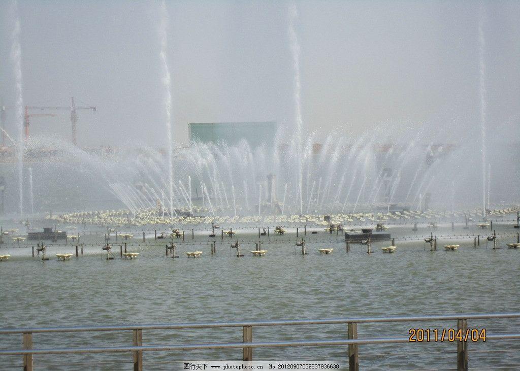 山东省青岛胶州市少海公园喷园图片
