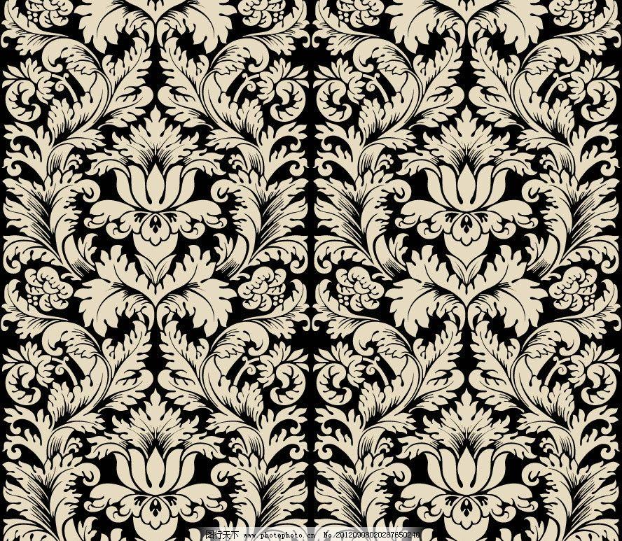 欧式花纹 无缝古典花纹 花边 花卉 花朵 卡片 时尚花纹 梦幻花纹