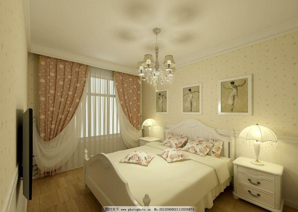 欧式田园卧室图片