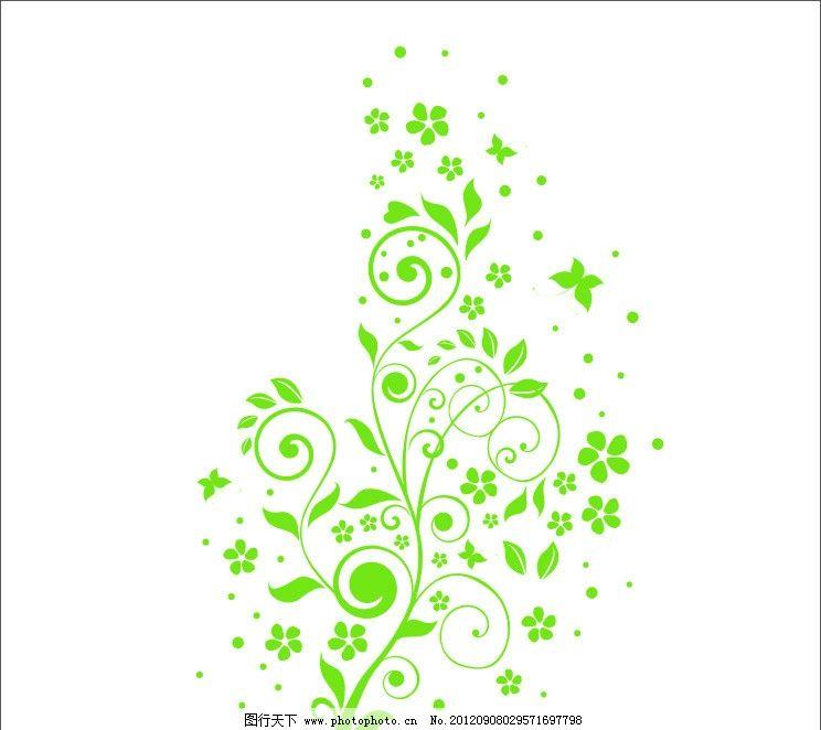 藤蔓 藤蔓花 移门 cdr 绿色藤蔓 底纹边框 花纹花边 cdr矢量 广告设计