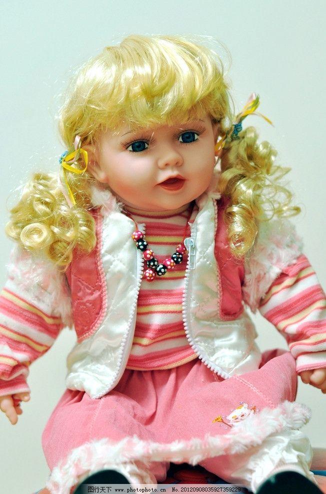 洋娃娃 玩具 布偶 娃娃 玩偶 西方小孩 可爱 大眼睛 小公主 辫子 金发