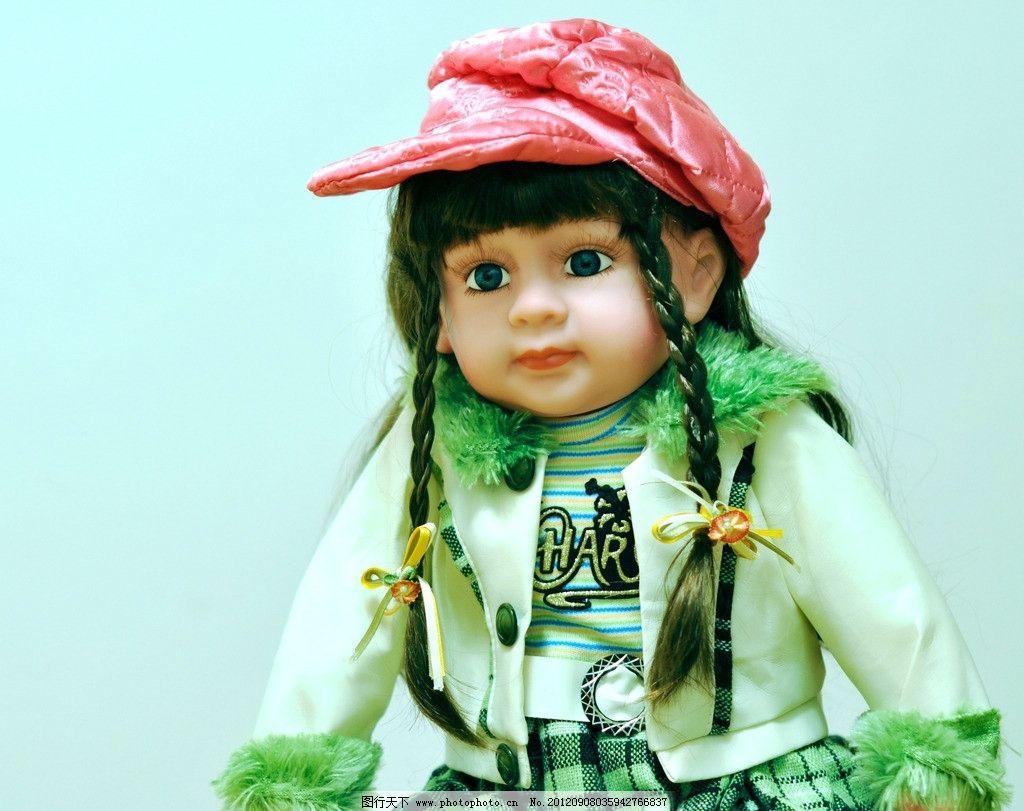 洋娃娃 玩具 布偶 娃娃 玩偶 西方小孩 可爱 大眼睛 小公主 辫子 帽子