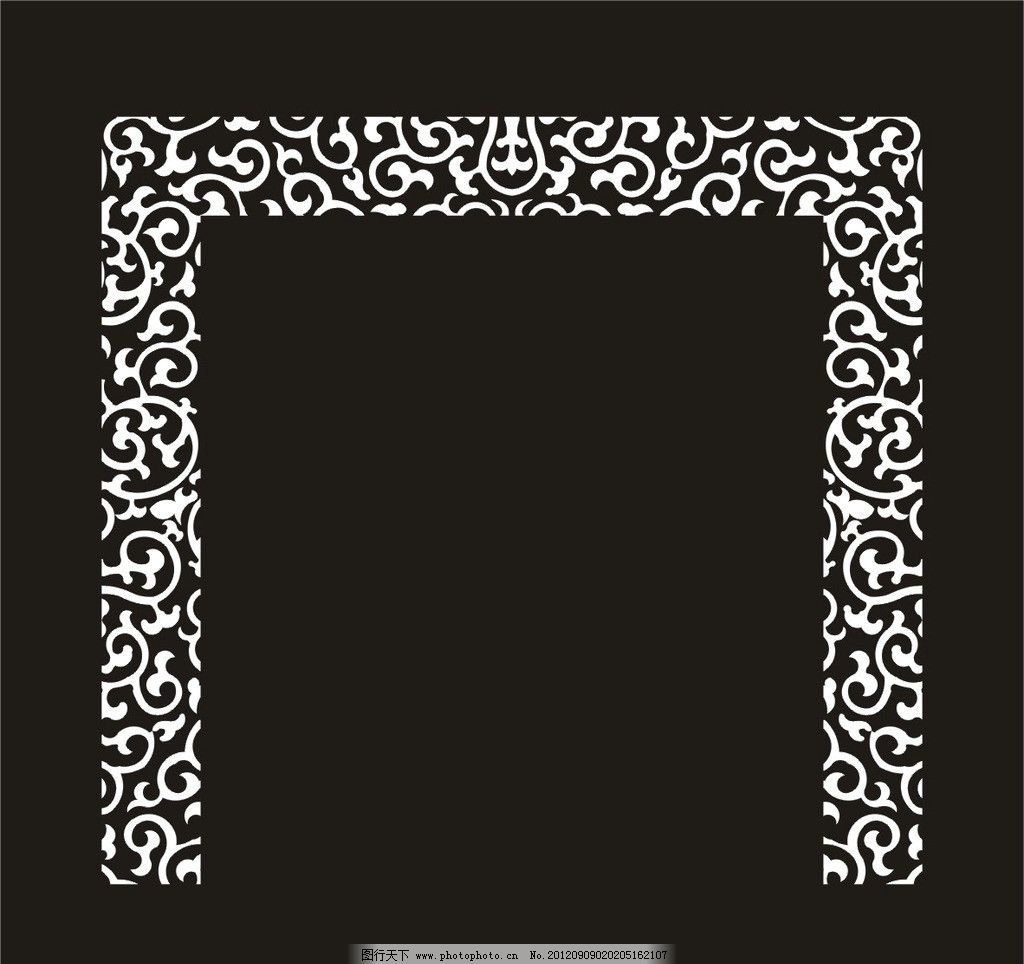 电视背景 玻璃雕花 连续 传统 移门 磨砂 纹样 传统图案 大门