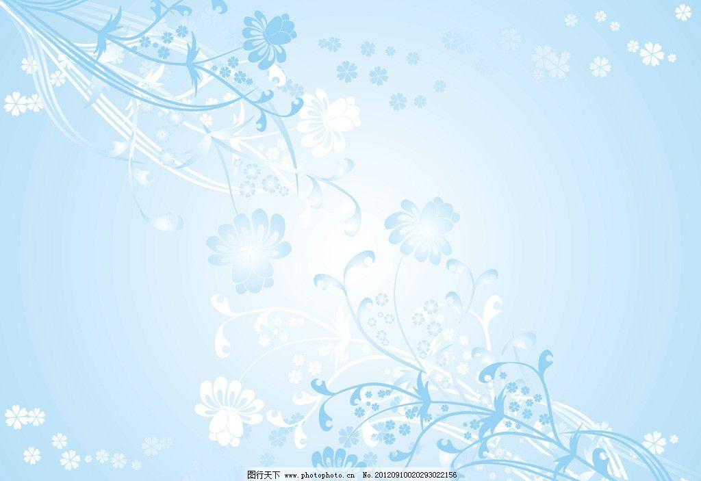 淡蓝色小花图片