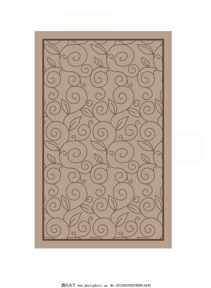 地毯 方框 螺旋纹 线条 树叶 花边花纹 底纹边框 设计 300dpi jpg