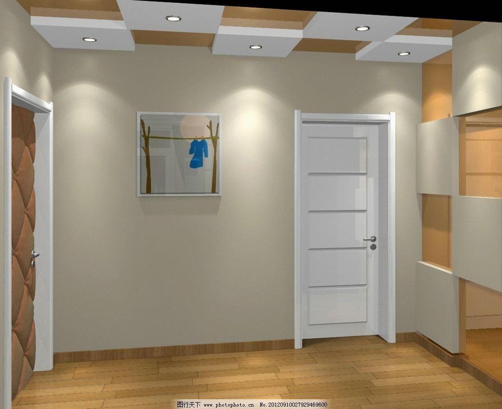 走廊效果图 软包门 室内设计 环境设计 设计 72dpi jpg