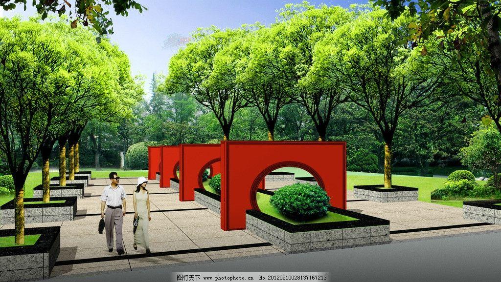 景墙 大门绿化        原创作品 景观设计 环境设计 设计 72dpi jpg