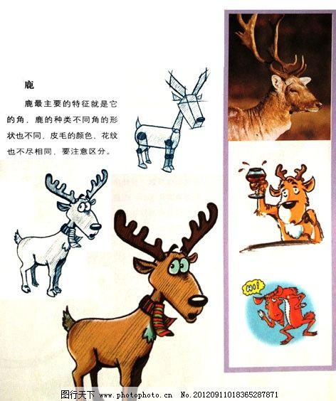 画卡通鹿步骤图片