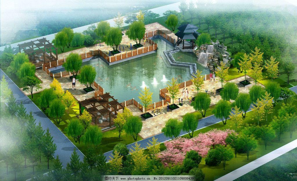 小游园的景观效果图图片