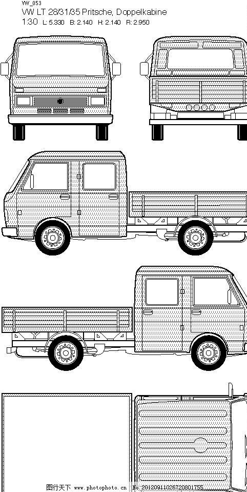 五视图 左视图 右视图 矢量图 汽车 现代科技 交通工具 矢量汽车 平面