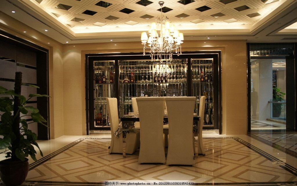 餐厅 地面拼花 欧式 展厅 灯饰 室内摄影 建筑园林 摄影 350dpi jpg图片