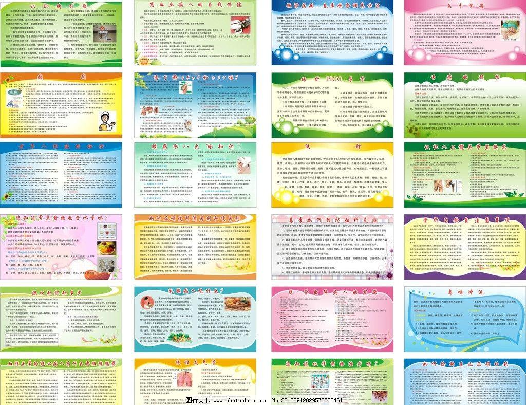 健康教育宣传栏展板 医院展板 模板 版报大全 底纹 素材 广告设计