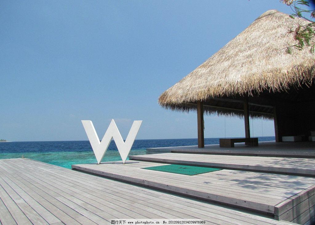 马尔代夫宁静岛水屋图片
