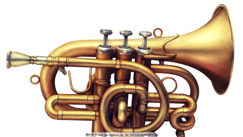小号 古风 吹奏 乐器 古风乐器 舞蹈音乐 文化艺术 设计 118dpi png