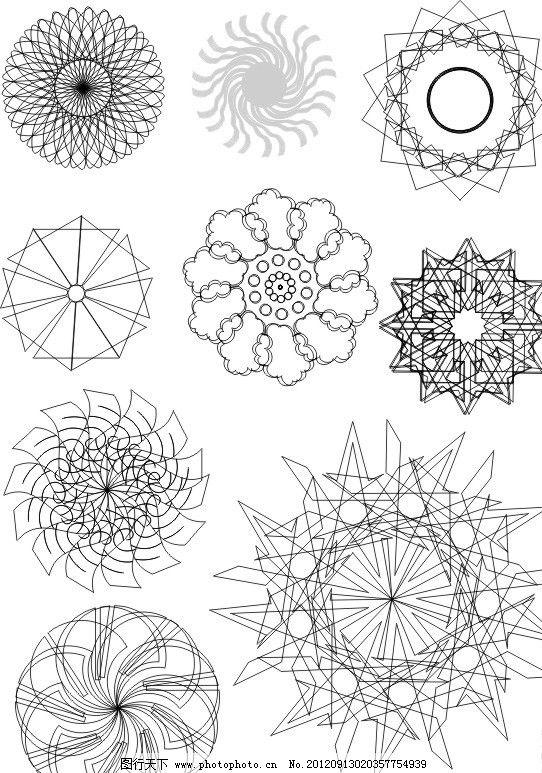 花纹 花 矢量图 黑白 圆圈 爆炸 艺术 线条 底纹 花边 花纹花边 底纹