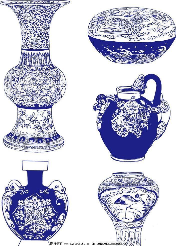 青花瓷 青花瓷花纹 青花瓷纹样 瓷器 陶瓷花纹 陶瓷纹样 手绘花纹