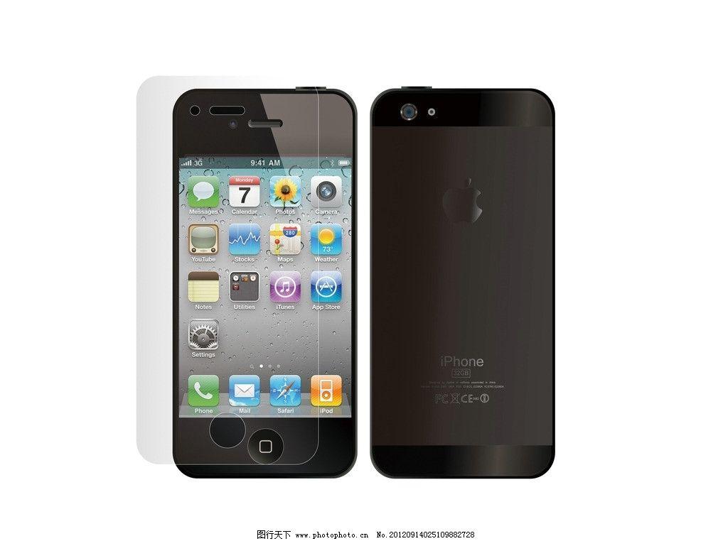 iphone5手机矢量素材图片
