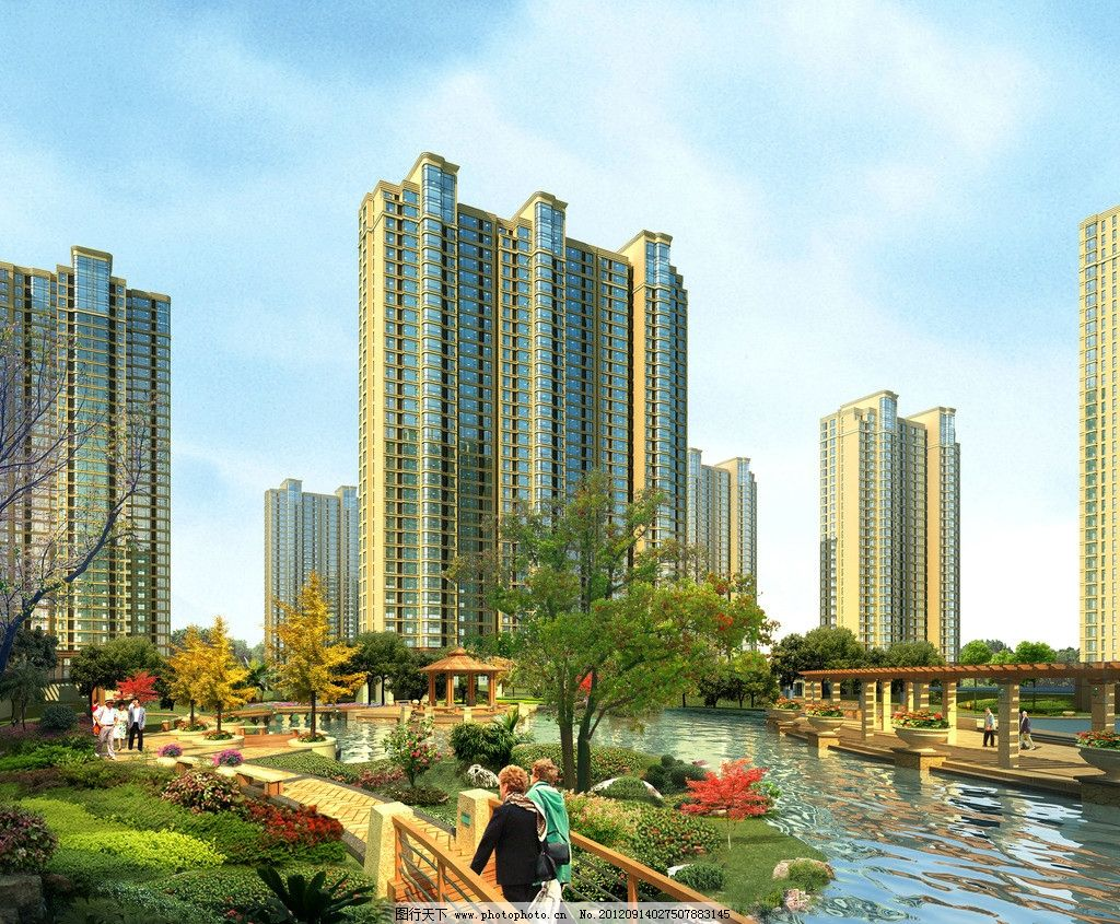 园林 鸟瞰图 建筑效果图 地产 房地产 景观设计 环艺设计 建筑设计