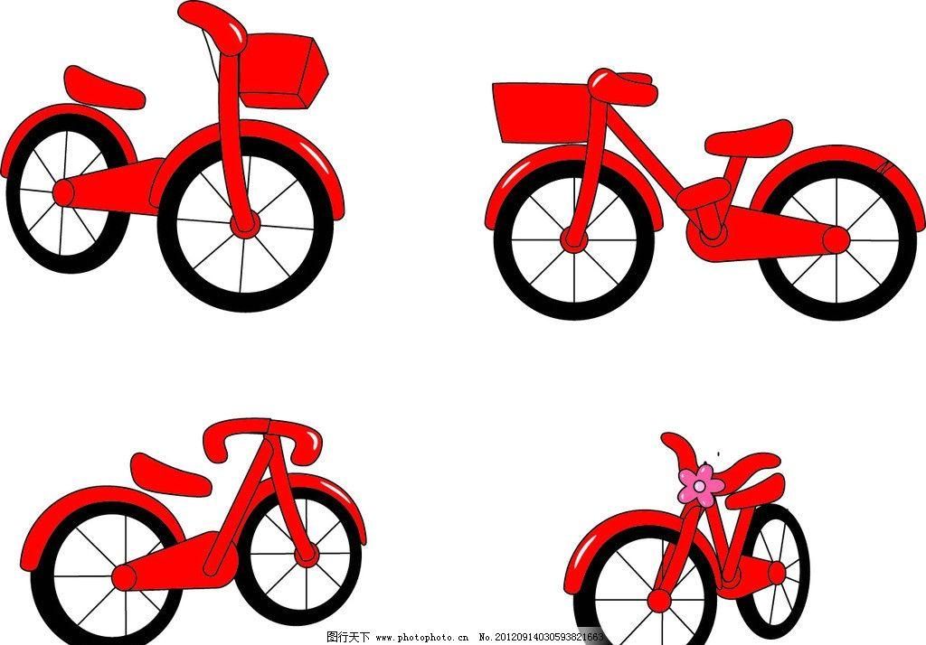 卡通自行车图片