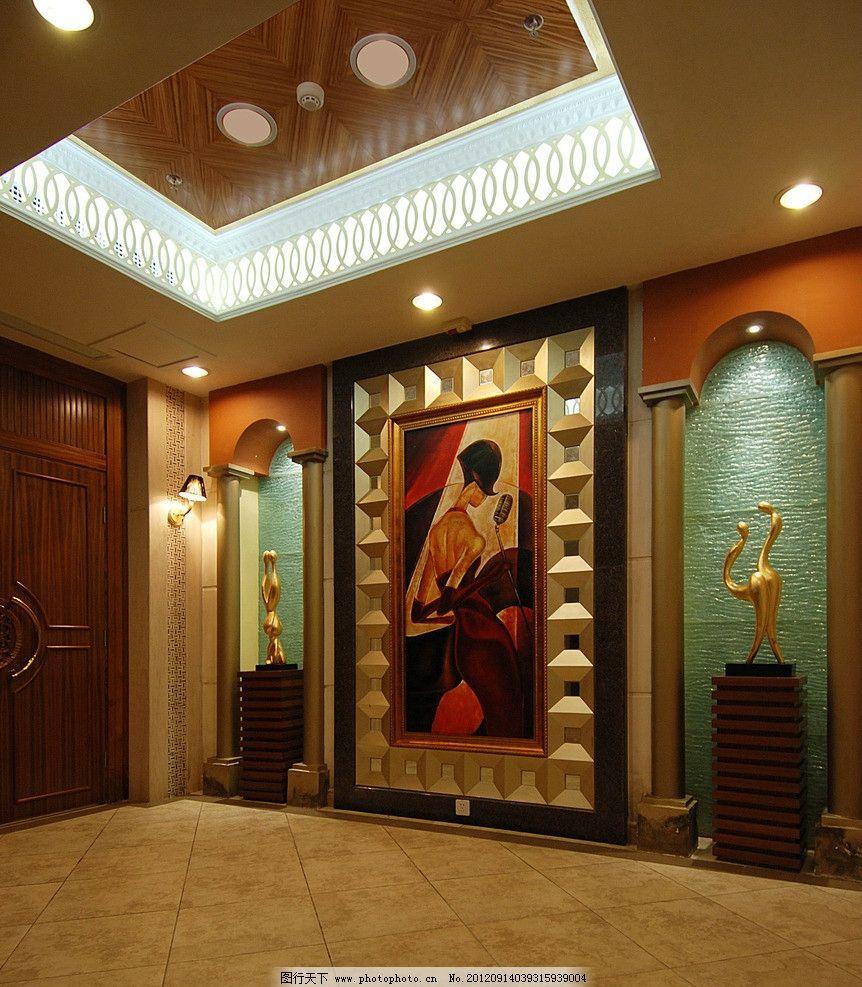 玄关 吊灯 中式玄关 中式风格 室内摄影 建筑园林 摄影 300dpi tif