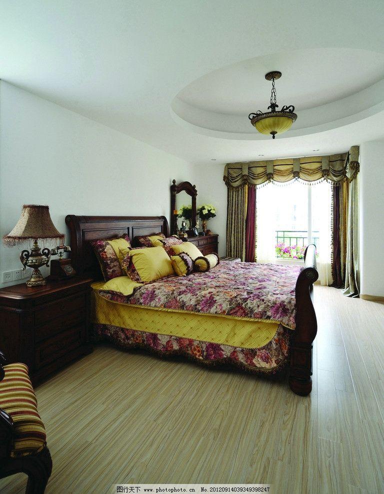 卧室 床 木纹 光影 木纹应用 木地板 地毯 室内摄影 建筑园林