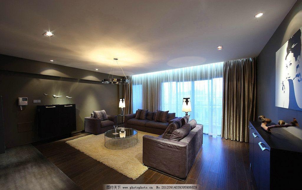 休闲区 客厅 现代风格 家具 木纹 木地板 地毯 室内摄影 建筑园林