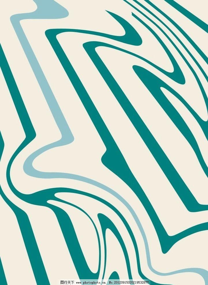 原创抽象线条几何印花设计图案