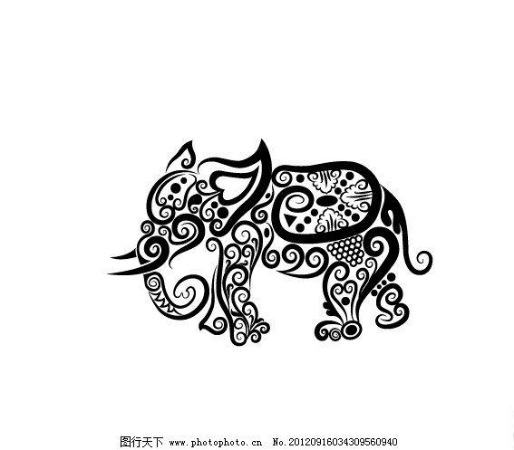 动物花纹矢量素材图片